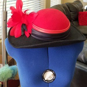 🌹Vintage Miss Bierner 100% Wool Hat GORGEOUS